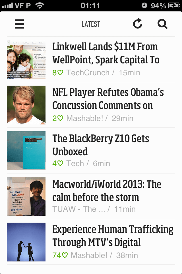 Feedly para iPhone
