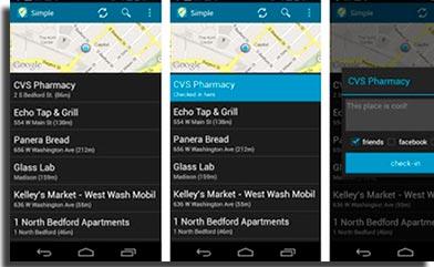 Simple Checkin for Foursquare print
