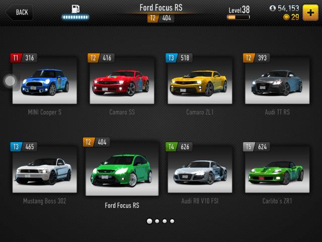 CSR Racing para iPhone