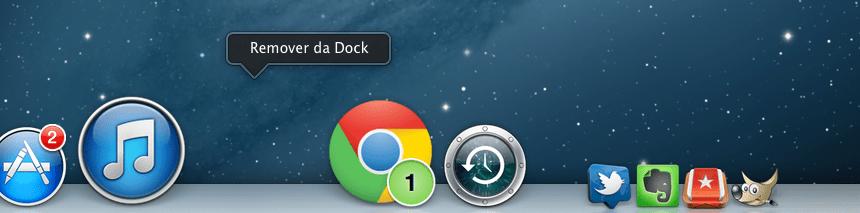Dock do Mac remover espaço