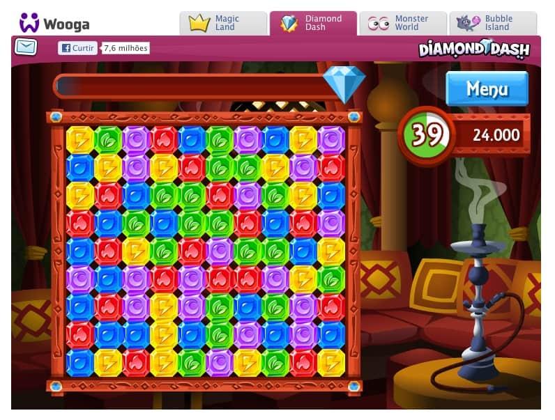 Diamond Dash no Facebook