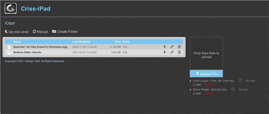 GPlayer configurações