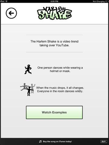 harlem Shake aplicativo para iOS