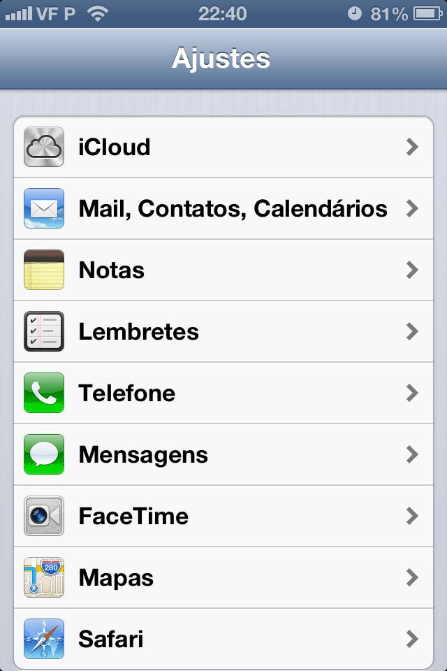 mensagem do iPhone