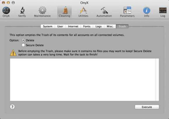 esvaziando lixo no Mac