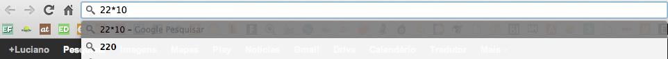 fazer contas no google chrome