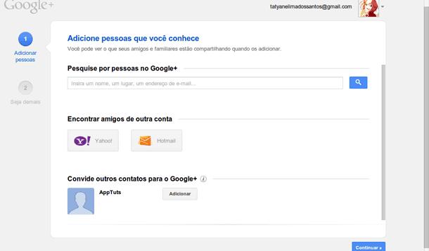 dicas para criar um conta no Google Plus