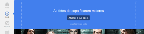 Perfil no Google Plus foto de capa