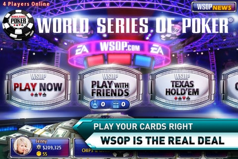 jogar com amigos no aplicativo world series of poker