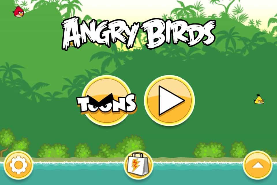 Angry Birds Toons - nova tela de entrada