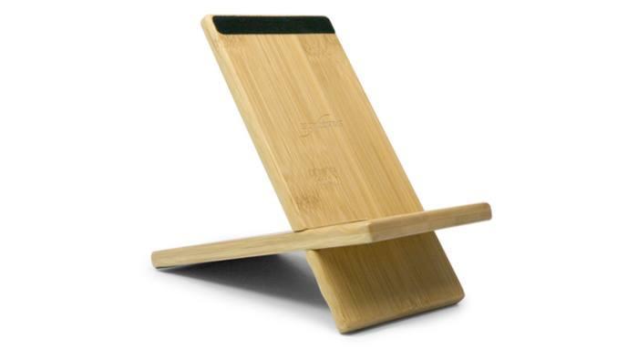 Suporte de bambu para iPad Mini