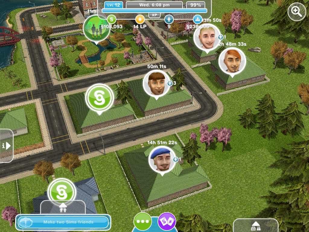 cidade sims freeplay iphone ipad android