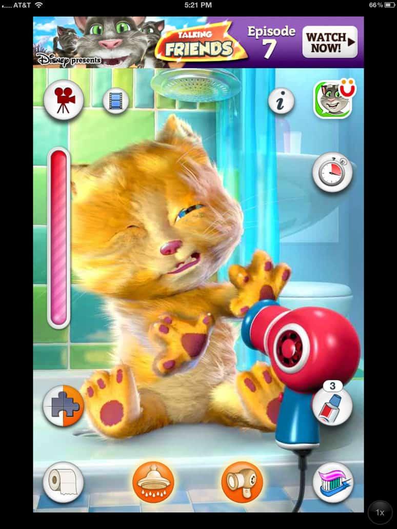 como interagir com o aplicativo talking ginger para iphone e android