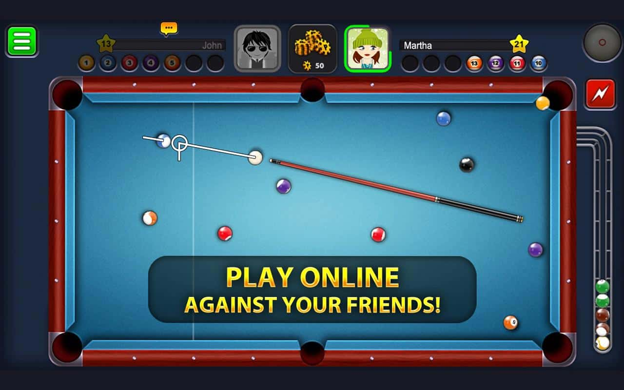 Sinuca Multiplayer do Miniclip