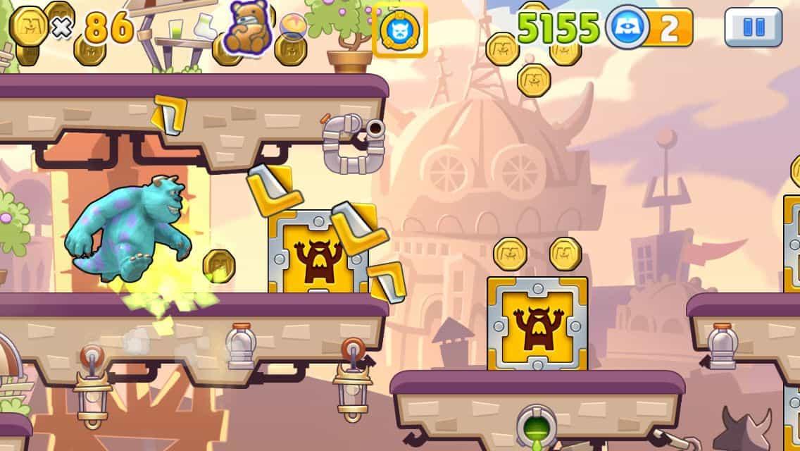 como jogar o aplicativo para iPhone Monsters, Inc. Run