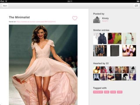 explorar imagens no we heart it aplicativo para web e ios