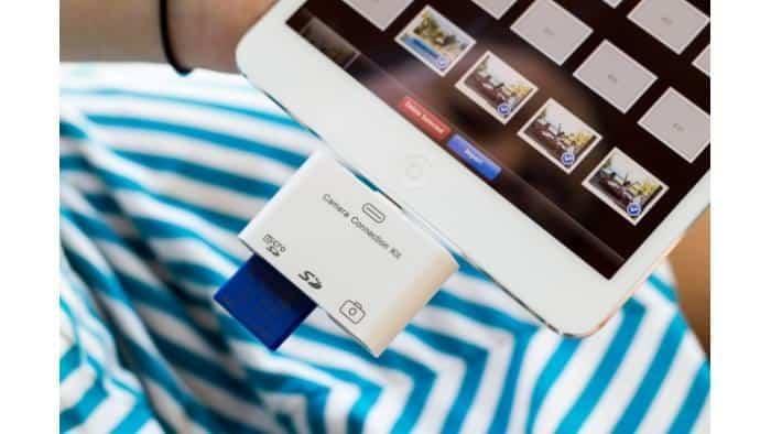 Cartão SD para iPad Mini