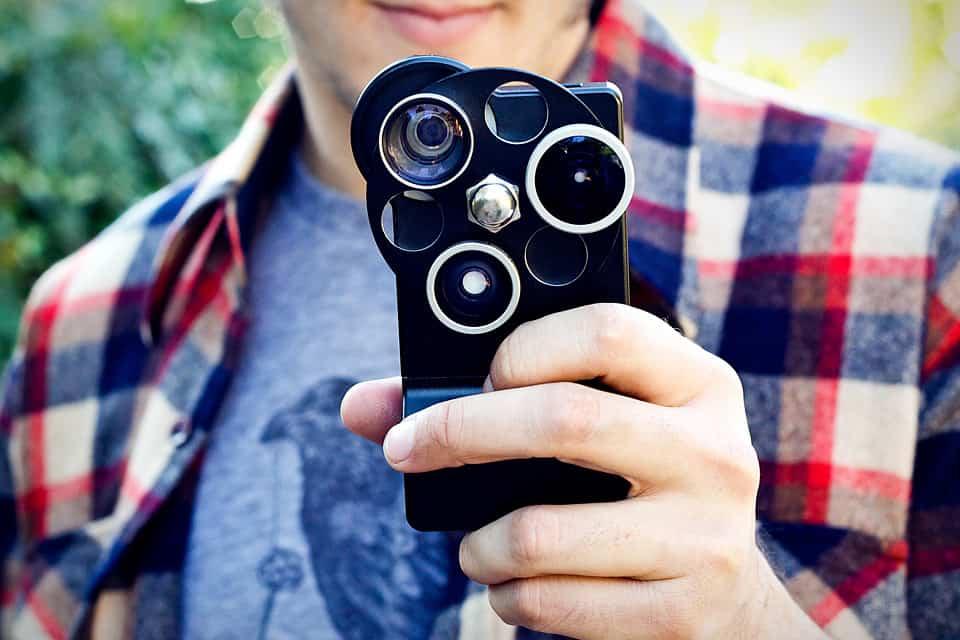 câmera do iPhone 5 lens dial