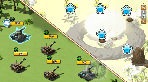 lutar contra o inimigo no aplicativo empires and allies para ios android e web