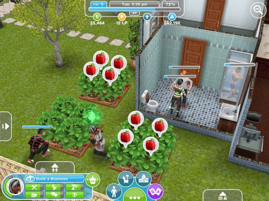 necessidades dos sims do aplicativo para iphone, ipad e android the sims freeplay