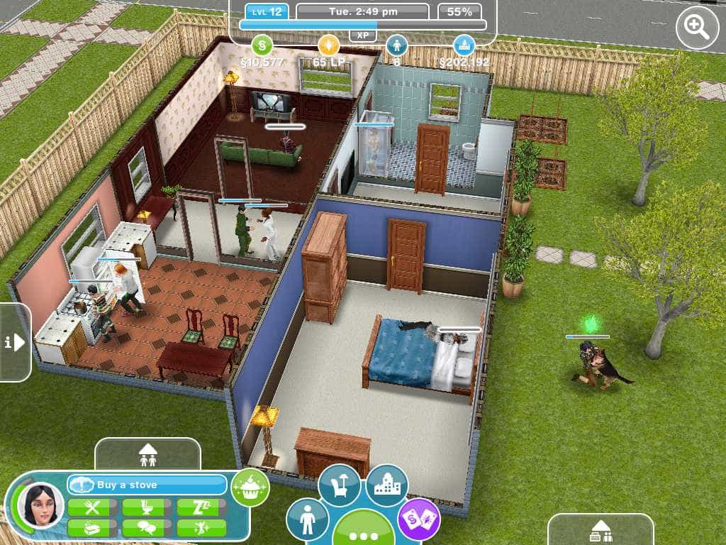 objetivos do aplicativo para iphone, ipad e android the sims freeplay