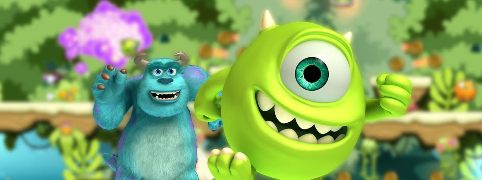 Personagens do aplicativo para iPhone Monsters, Inc. Run