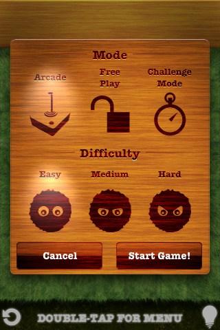 modos de jogo do aplicativo fling para ios e android