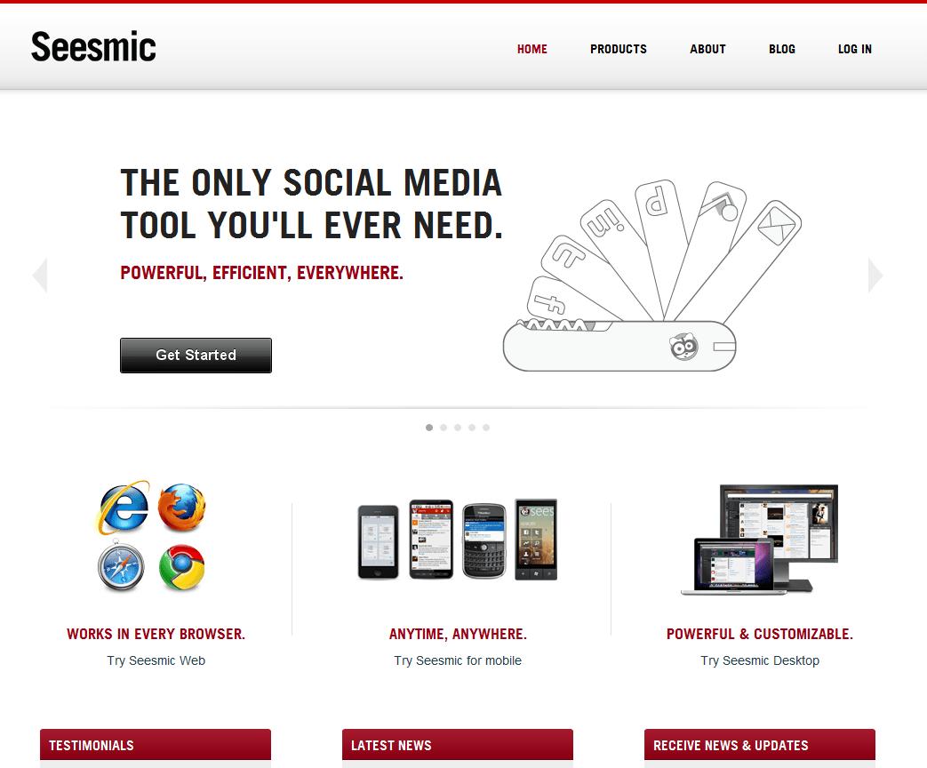 seesmic pro aplicativo que pode substituir o tweetdeck