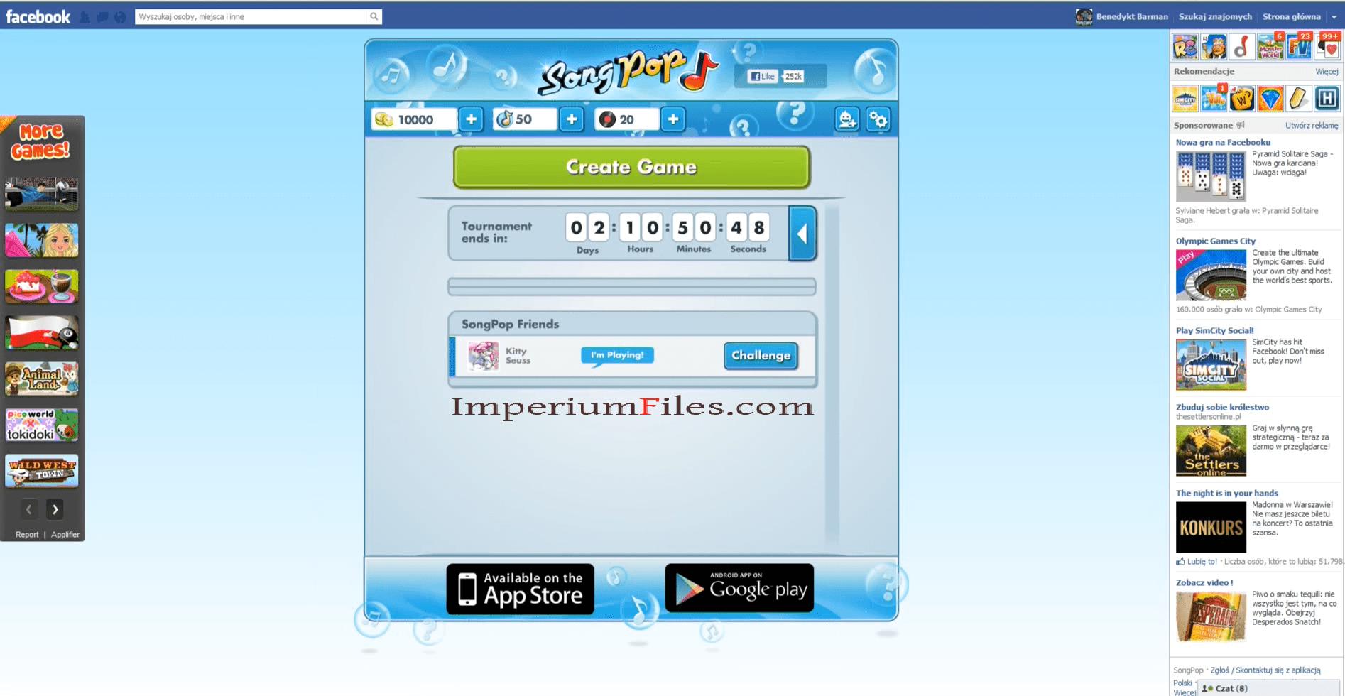 songpop aplicativo para facebook, iphone e android