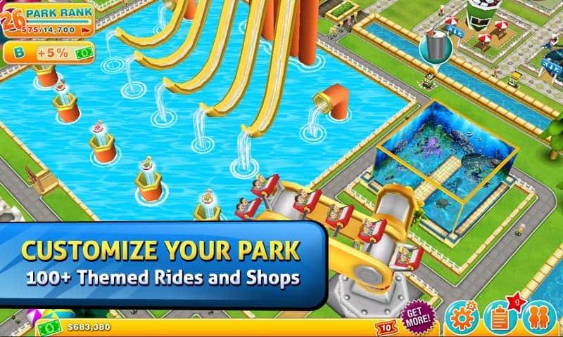 theme park para iphone ipad e android