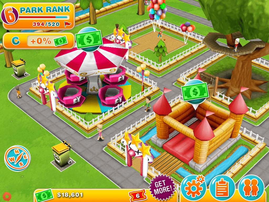 diversões e lojas do aplicativo theme park para iphone ipad e android