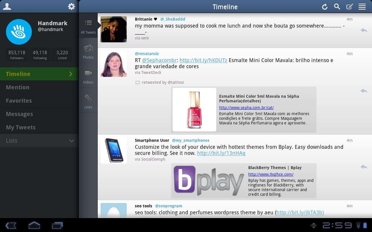 tweetcaster aplicativo que pode substituit o tweetdeck