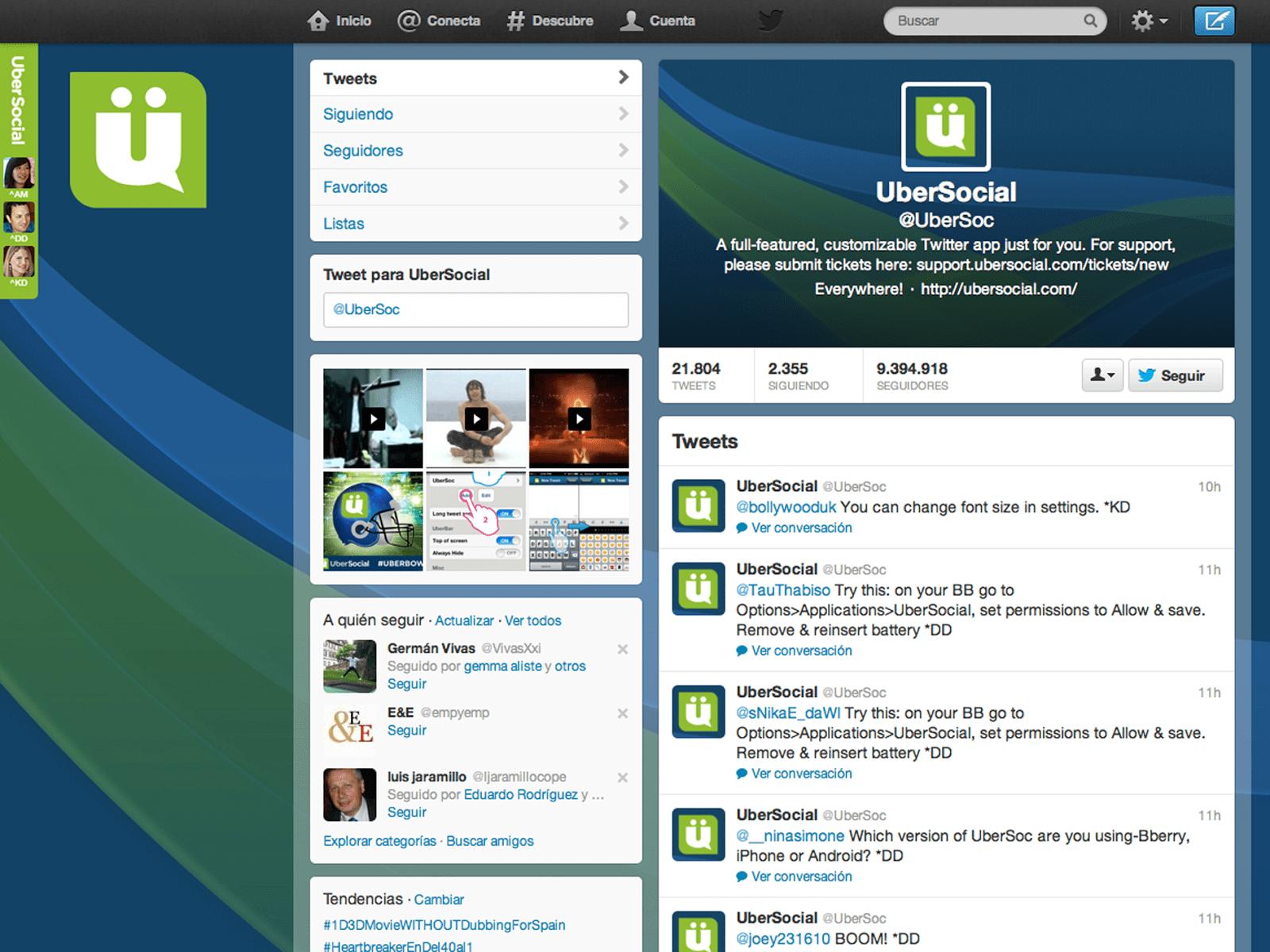 substituir o Tweetdeck ubersocial