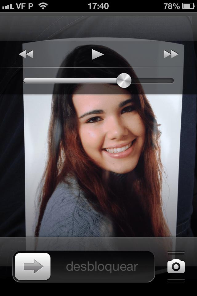 escutar música com o iPhone bloqueado