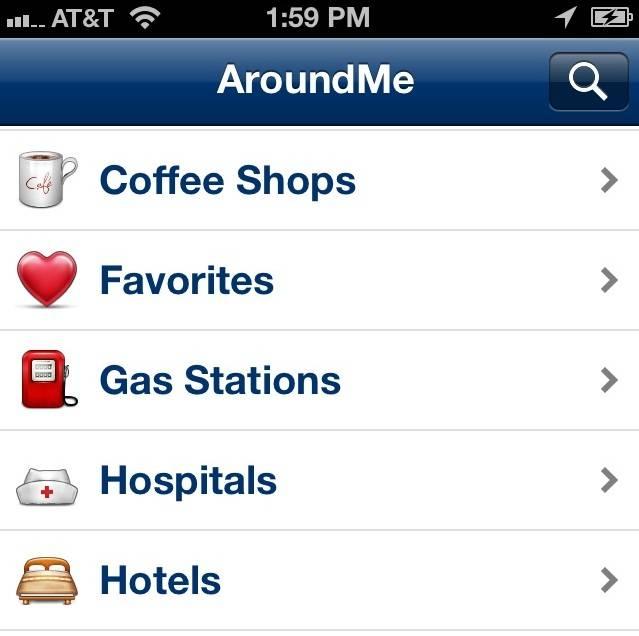 aplicativo around me para ios e android