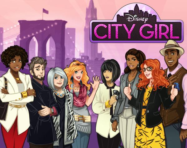aplicativo disney city girl para facebook