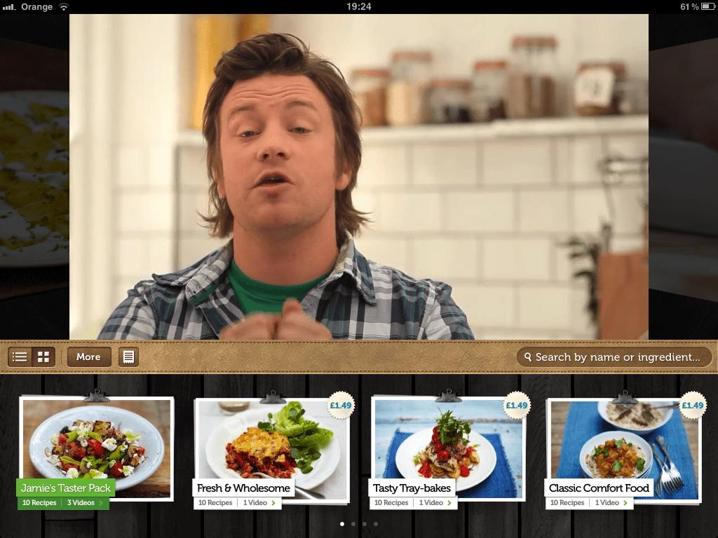aplicativo jamie's recipes para android e ios