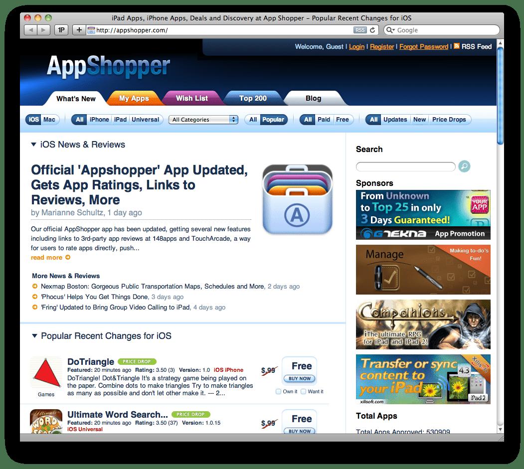 appgratis do iphone appshopper