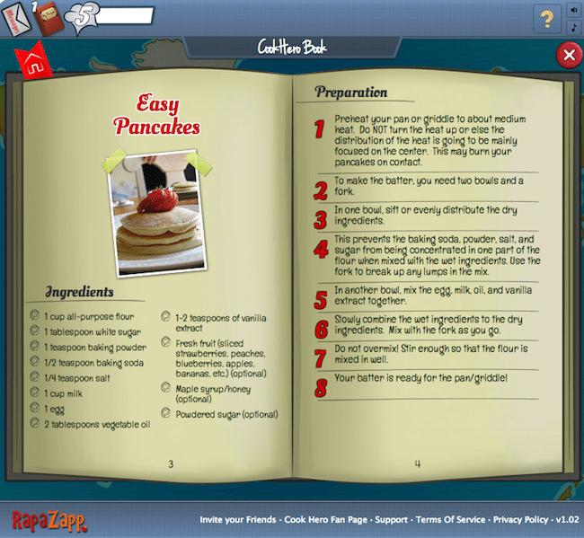 como jogar o aplicativo cook hero para facebook