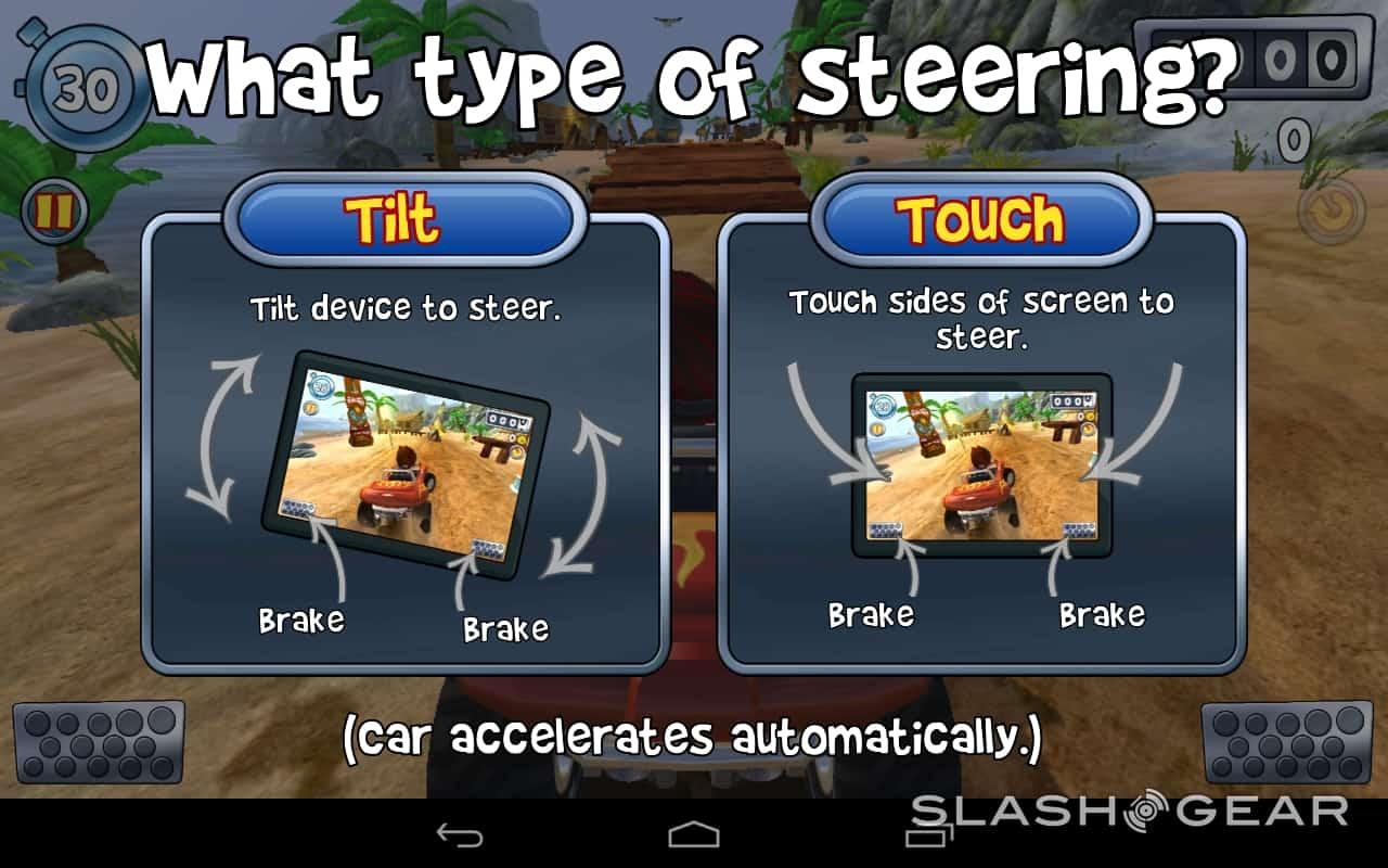 controlos do jogo beach buggy blitz para ios e android