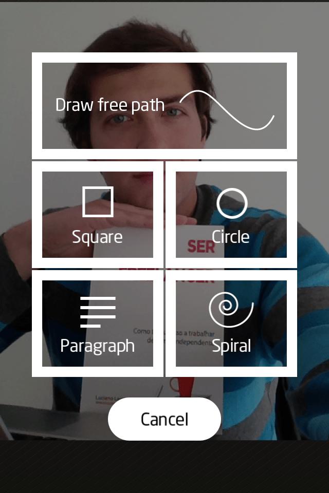 ecolher um caminho no aplicativo path on para ios