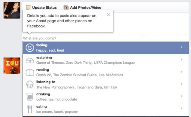 facebook apresenta sentimentos