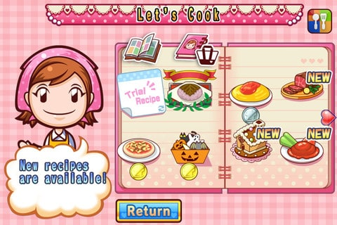 livro de receitas do aplicativo cooking mama seasons para android e ios