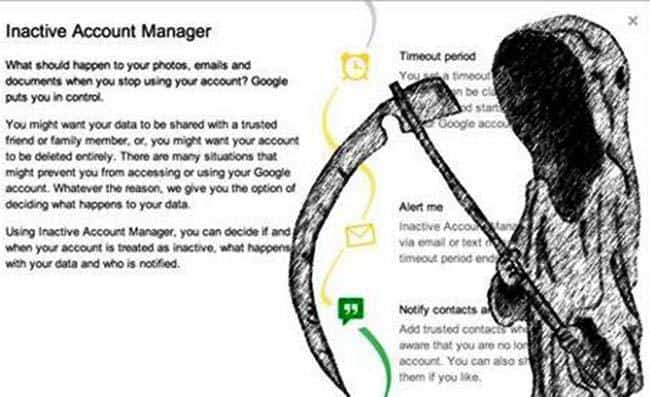 o que fazer com a conta do Google quando alguém morre