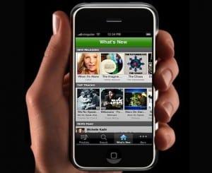 spotify no iphone app de streaming de música