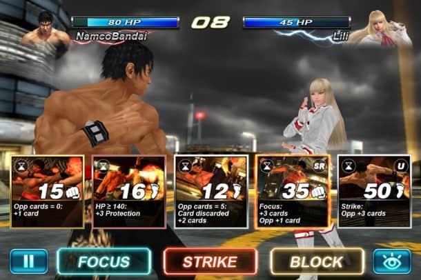 Tekken Card Tournament como jogar