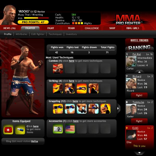 MMA Pro Fighter como jogar