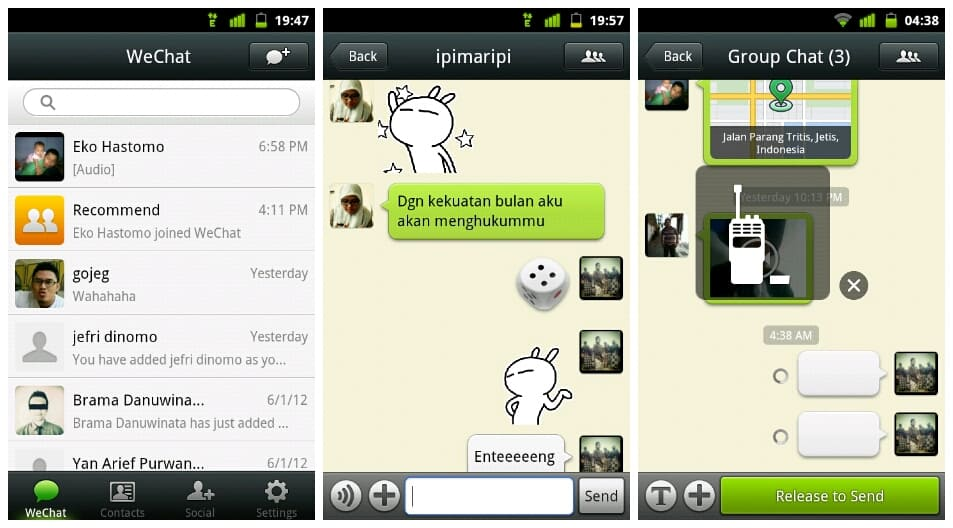 wechat para android e ios