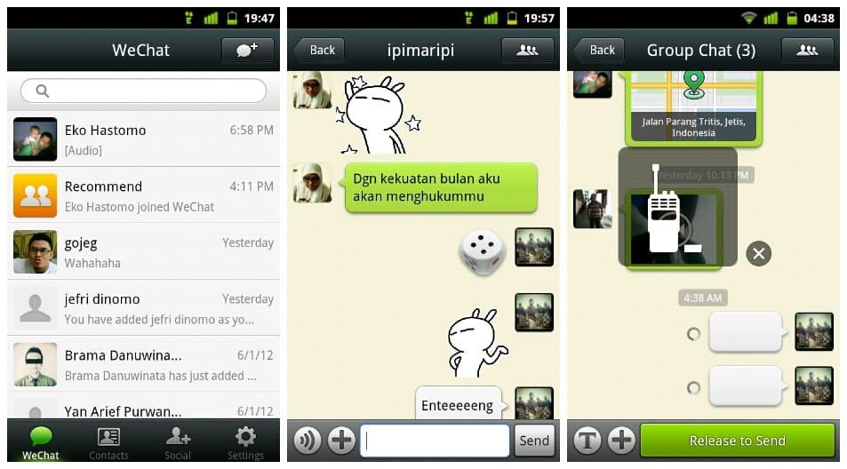 aplicativo wechat para android e ios