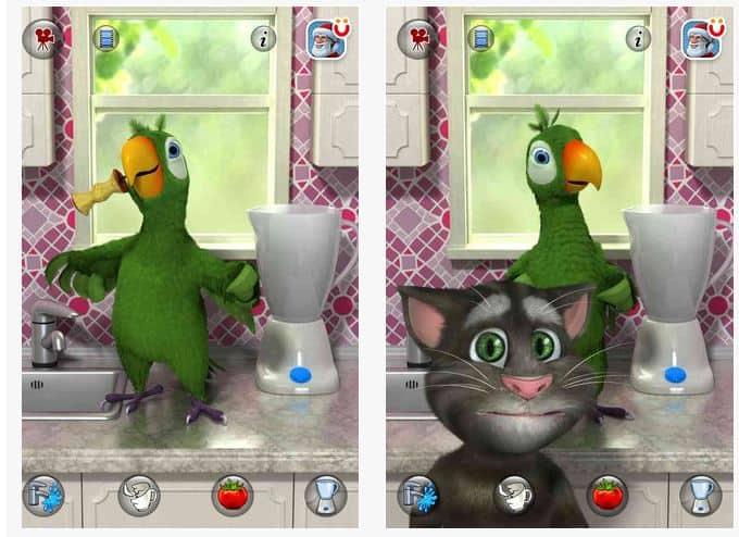como utilizar o aplicativo pierre o papagaio falante